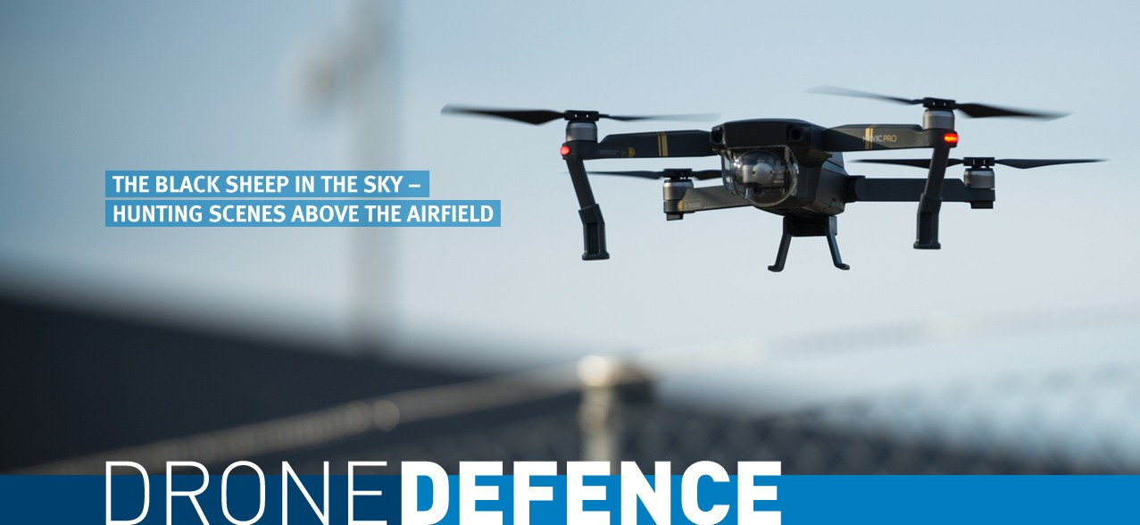 Drone defence: Drones: The black sheep in the sky – hunting scenes above the airfield